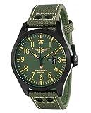 Aeronautica Militare AVP1G1 - Reloj, correa de tela color negro