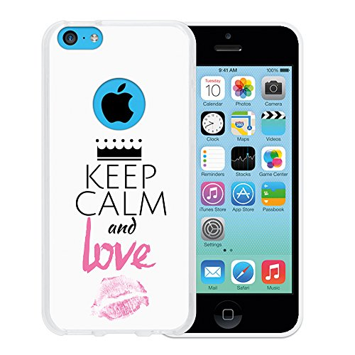 iPhone 5C Hülle, WoowCase Handyhülle Silikon für [ iPhone 5C ] Hund Fußabdruck Handytasche Handy Cover Case Schutzhülle Flexible TPU - Transparent Housse Gel iPhone 5C Transparent D0332