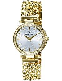 Daniel Klein Analog Gold Dial Women's Watch-DK11056-1