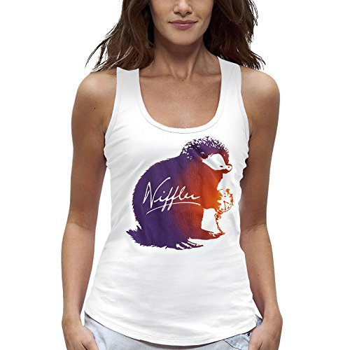 sen Tank Top Niffler Holiday Shirt Damen von Elbenwald Baumwolle weiß - XL ()