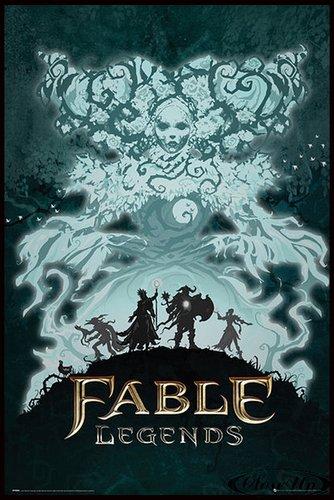 Close Up Fable Legends Poster White Lady (93x62 cm) gerahmt in: Rahmen schwarz