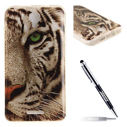 alcatel-pixi-4-3g-hullealcatel-pixi-4-3g-silikon-hullejawseu-cool-weiss-tiger-muster-schutz-handy-hu