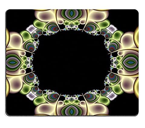 MSD en caoutchouc naturel Tapis de souris Image ID: 493746abstrait Fractal papier peint avec une Texture de soie en Cool Steely Couleurs 3941