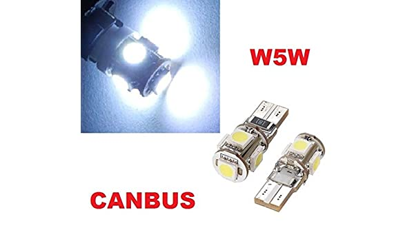canbus Xenon bianco circa 6000/K 12/V inion/® 5er Xenon look con Power SMD LED luce Stand lampade led soffiten Pere T10