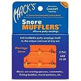 Mack's Snore Mufflers: tapones silenciadores de silicona para los oídos, 6pares