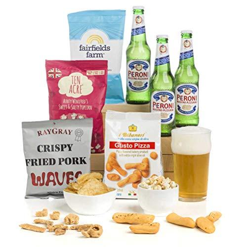 Hay Hampers Peroni Lager Beer & Snacks Gift hamper - Just add sunshine!