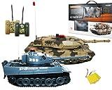 HMF 69000 RC Panzer-Set: Königstiger und Abrams Panzer mit integriertem Infrarot Kampfsystem