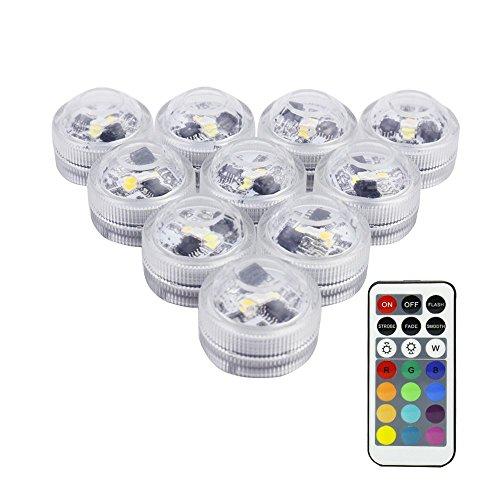 RGB DEL Piscine Lampe Télécommande Changement De Couleur nage bain bassin ampoules 12 W