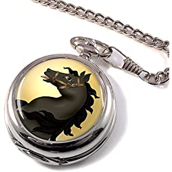 Dark Horse Full Hunter Pocket Watch