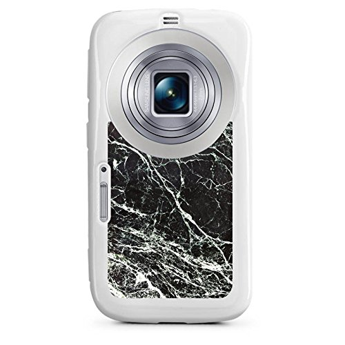 DeinDesign Samsung Galaxy K Zoom Hülle Silikon Case Schutz Cover Marmor Look Schwarz Black Marble Marmoriert