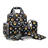 Baby Wickeltasche Multifunktional Windel Umhängetasche Rücksack für Baby/ Kinder tragbare Einkaufstasche Mama Handtasche Pflegetasche Set (5pcs)