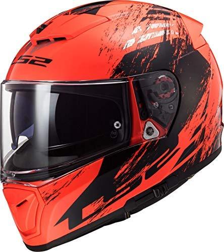 LS2 Motorradhelm FF390 BREAKER SWAT FLUO Orange Schwarz, Schwarz/Orange, ()