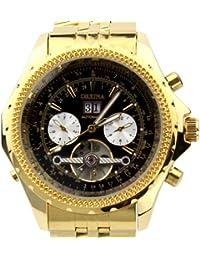 ORKINA KC082-S-Gold/Black - Reloj para hombres, correa de acero inoxidable color dorado