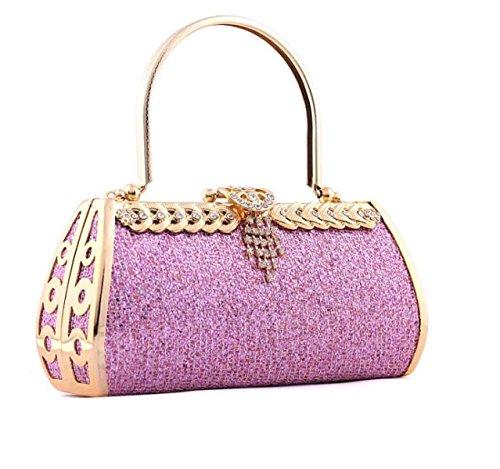 Strawberryer Ms Handbags Hardware Ensemble De Dîner Haut De Gamme Diamond European Fashion Incorporated Clutch b