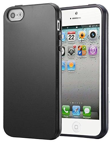 iPhone 5 hülle, iPhone se Holster hülle Flip nach oben und unten Handy hülle Premium PU Leder Tasche Flip Case Etui Handy Schutz Hülle für Apple iPhone 5 / 5s se - Rot Schwarz 4