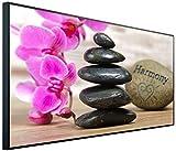 InfrarotPro | Infrarotheizung 750 Watt Bildheizung | 300+ Motive verfügbar | Made in Germany | Geprüfte Technik | Ultra-HD Auflösung, C08: Blumen Orchidee & Steine Harmonie, 120x60x3cm