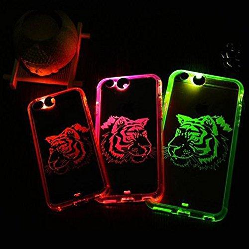 Housse Etui pour Apple iPhone 6/6S--Yihya Ultra Slim Coque case souple en TPU avec Flash LED Notification Appel Entrant/Message Coque Cover Arrière Pour Apple iPhone 6 /6S 4.7Inch--Tigre Color#3