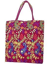 Shubhangi Women's Shoulder Bag (Jaipuri Embridered Handicraft Traditional Handbags,stylish Traditional Bag,Multi-Coloured... - B079KR4TMN
