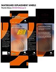 L.A. Sports - Ruedas de repuesto para tabla waveboard (4 unidades, 85A, 80 x 24 mm), varios colores