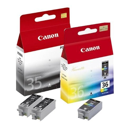 3x Original Tintenpatrone Canon Pixma IP 100 PGI35, CLI36 - 2x BLACK, 1x COLOR (210 Pixma Canon)