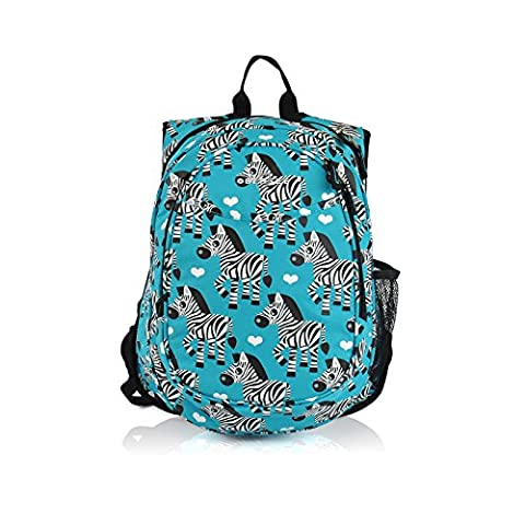 Obersee Zebra Kids Pre-School All-in-One Backpack with