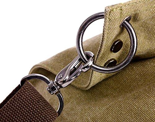 LY® Neu Umhängetasche Handtasche Retro Canvas Damen Trage Tasche Einkauftasche Schultasche Beuteltote Braun Braun