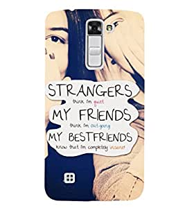 EPICCASE bestfriends know me Mobile Back Case Cover For LG K7 (Designer Case)