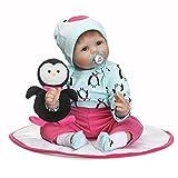 Minidiva Triplespark Lebensechte Puppen Babys, Handgemachtes Reborn Babys Mädchen Silikon Vinyl Realistische Baby Puppe 22