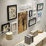 Bilderrahmen Set aus Echtholz mit Glasscheibe - 9Set Fotorahmen Kollage ( Color : B )