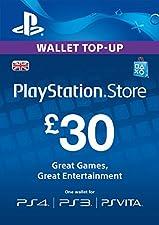PlayStation PSN Card 30 GBP Wallet Top Up [PSN Download Code - UK account]