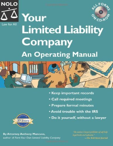 Your Limited Liability Company: An Operating Manual With CD with CDROM (Your Limited Liability Company (W/CD)) by Anthony Mancuso (2005-06-04)