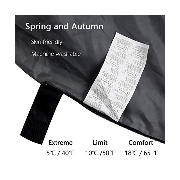 ACTIVE FOREVER Mountaineers Outdoor Sleeping Bag with Compression Sack, Lightweight Waterproof for Warm Cold Weather 4… 2
