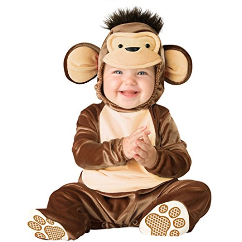 chen Kleinkinder Animal Kostüm Halloween Party Jumpsuit Winter Strampler Affe 80cm ()
