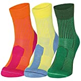 Merino Wool Light Cushion Socks (EU 35-38, Arancione/Fucsia - 1 Paio)
