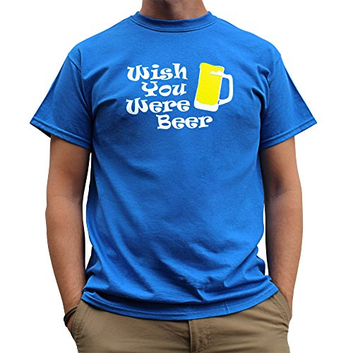 Nutees Wish You Were Beer Irish St Patrick Day Funny Herren T Shirt - Königsblau XX-Large (Bier Bong Kostüm)