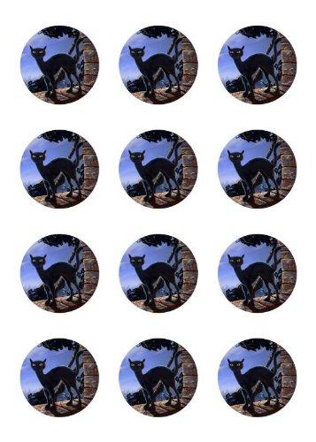 ke Halloween Tortenaufleger Amerikaner schwarze Katze HW06 (Nach Der Halloween-sales-online)