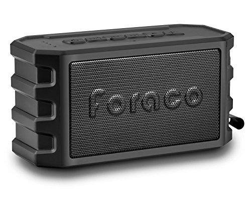 Altavoz Bluetooth, Foraco Bluetooth 4.2 Estéreo Altavoces Portátil con Universal Soporte para Bicicleta / 24 Horas de Emisión Continua / IP65 Impermeable / Bass Enhanced / Tarjeta TF Support/ Negro