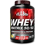 Vit-O-Best Whey Matrix 50/50 Proteínas, Sabor a Chocolate - 1814 gr