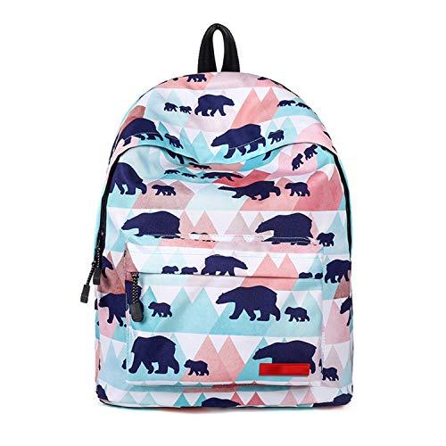 Frauen Mode Bürde Rucksack Lässig Lose Wasserdicht Student Rucksack Trend Schule Feld Pack,Blue-OneSize (Mobile Arbeit-feld)