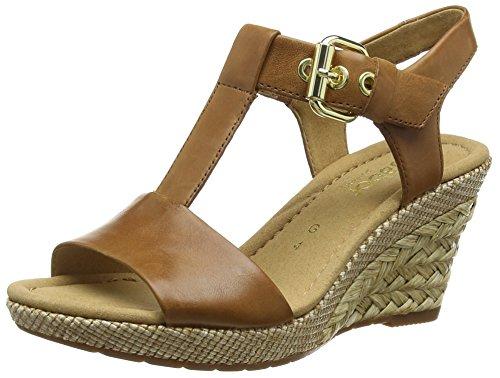 Gabor Shoes 42.824 Damen T-Spangen Sandalen, Braun (54 peanut (ba.st)), 39 EU (6 UK) EU