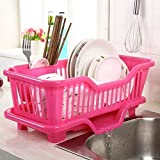 SQUICKLE BS Plastic Kitchen Sink Dish Drainer - Drying Rack Washing Basket