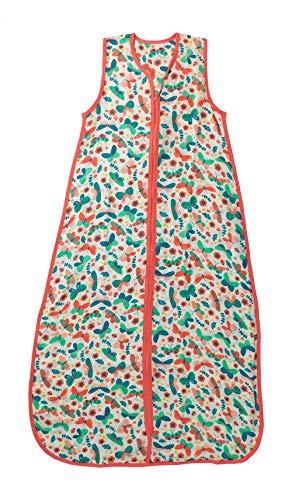 Geprüft Schlafanzug (Schlummersack Bambus-Musselin Babyschlafsack für den Sommer 0.5 Tog - Schmetterling - Mädchen - 3-4 Jahre/130 cm)