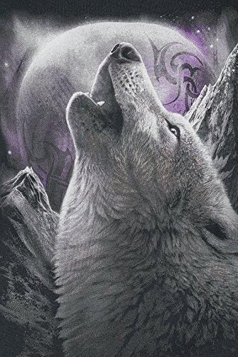 Spiral Wolf Soul Maglia lunga donna nero Nero