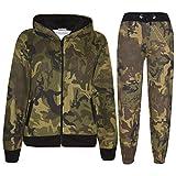 A2Z 4 Kids® Kinder Trainingsanzug Jungen Mädchen Designer Camouflage - T.S A2Z Camo Green 9-10