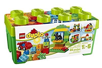 LEGO 10572 Duplo My First all-in-one Box of Fun Brick Set, Easy Toy Storage, Preschool Toys for Kids 1.5-5