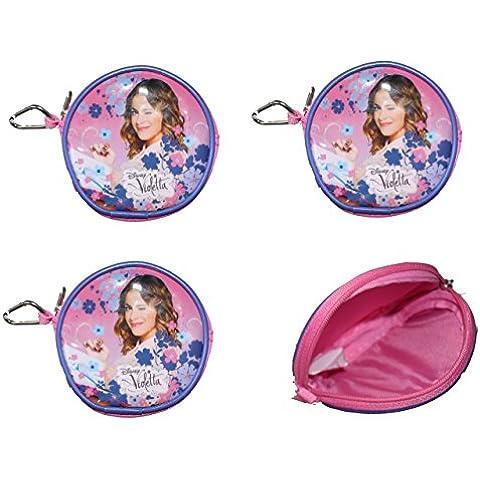 4pezzi Disney Violetta portafogli in plastica regalino