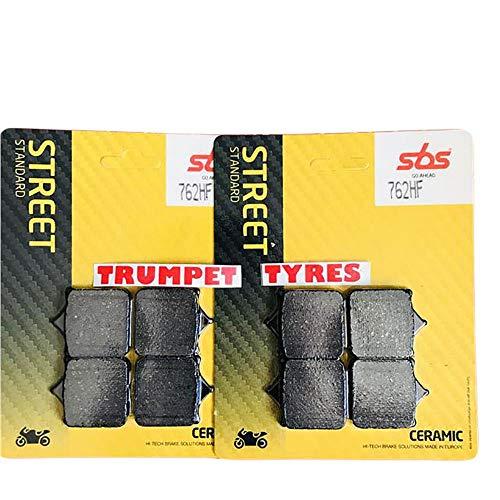Set di pastiglie Freno in Ceramica Standard per Ducati 749 S, 749S 03 04 05 06 07 SBS Performance Front Street Standard, qualità OE 762HF