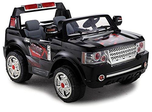 Elektro Kinderauto Elektrisch Ride On Kinderfahrzeug Elektroauto Fernbedienung - SUV LAND 2-Sitzer - Schwarz