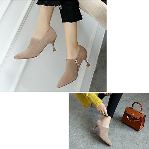 LIANGJUN Stivaletti Caviglia Stivali Con Tacco Scarpe Donne Primavera Inverno, 3 Colori, 6 Dimensioni Disponibili ( Colore : 1# , dimensioni : EU37=UK5=L:235mm ) 3#