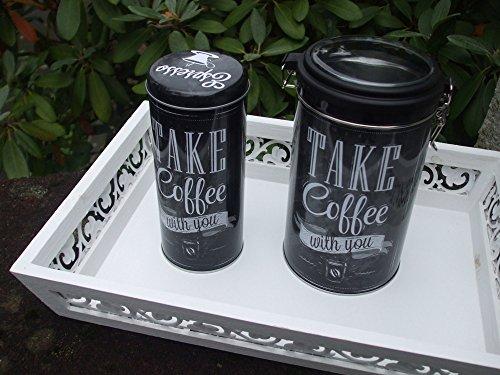 Dosen- Set, Vorratsdosen , Coffee, 2 Kaffeedosen, für Kaffe u. Pads